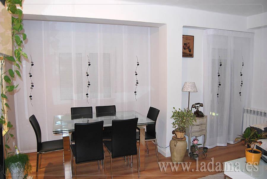 Panel japon s y cortina para sal n moderno visita - Cortinas salon moderno ...