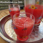 Wassermelonen-Limettengetränk mit Holunderblütensirup