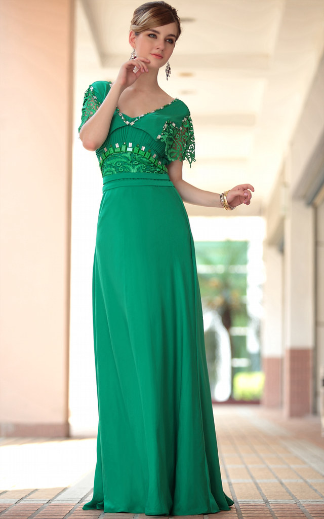party dresses for girls hot sale floor length green new se