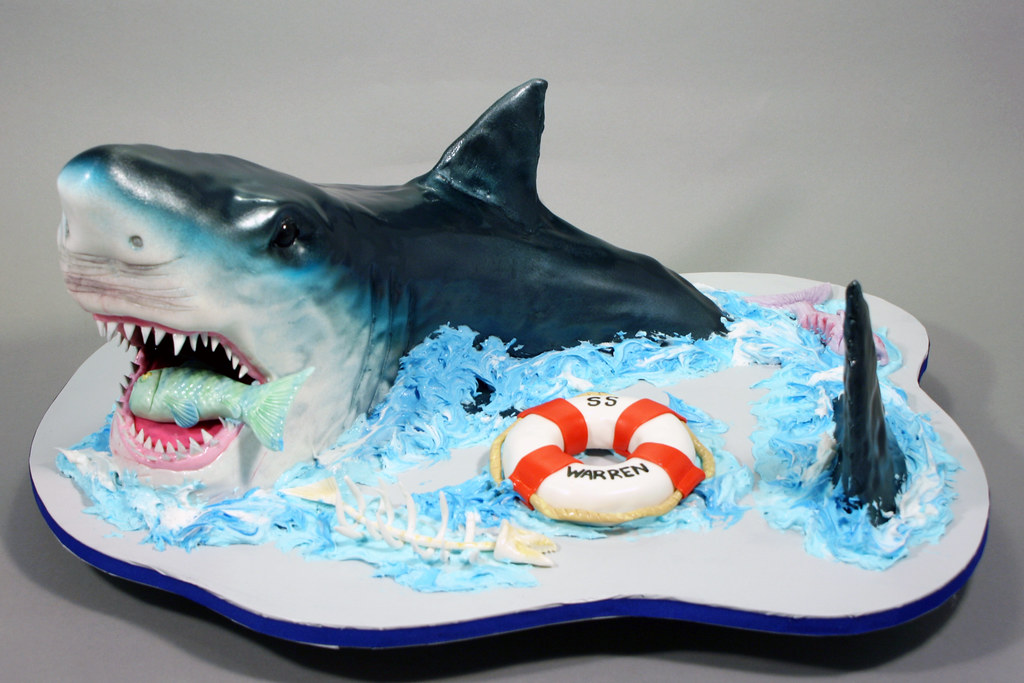 Shark Birthday Cake Pinterest