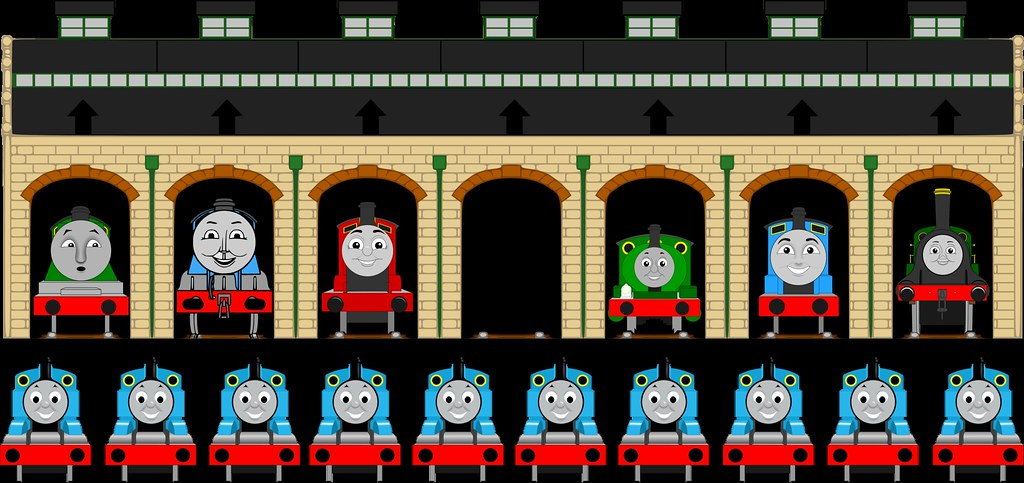 Pin Thomas In Tidmouth Sheds Like Pin The Tail On The