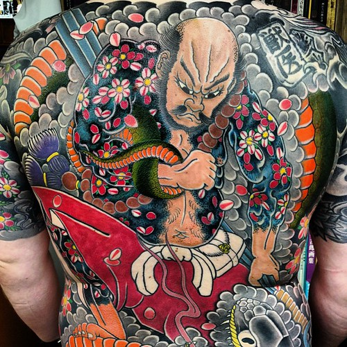 Booked in with big billy hay back piece big tattoo for Japanese tattoo chicago