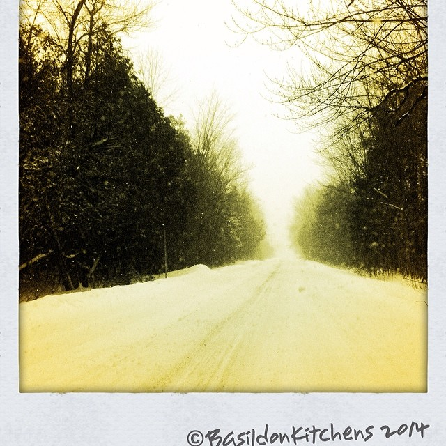6/2/2014 - spooky {my drive home yesterday through yet another snow storm} The normal 40 minute drive took over 2 hours! I'm so over winter!! #photoaday #winter #weather #snow #millerroad #princeedwardcounty #driving