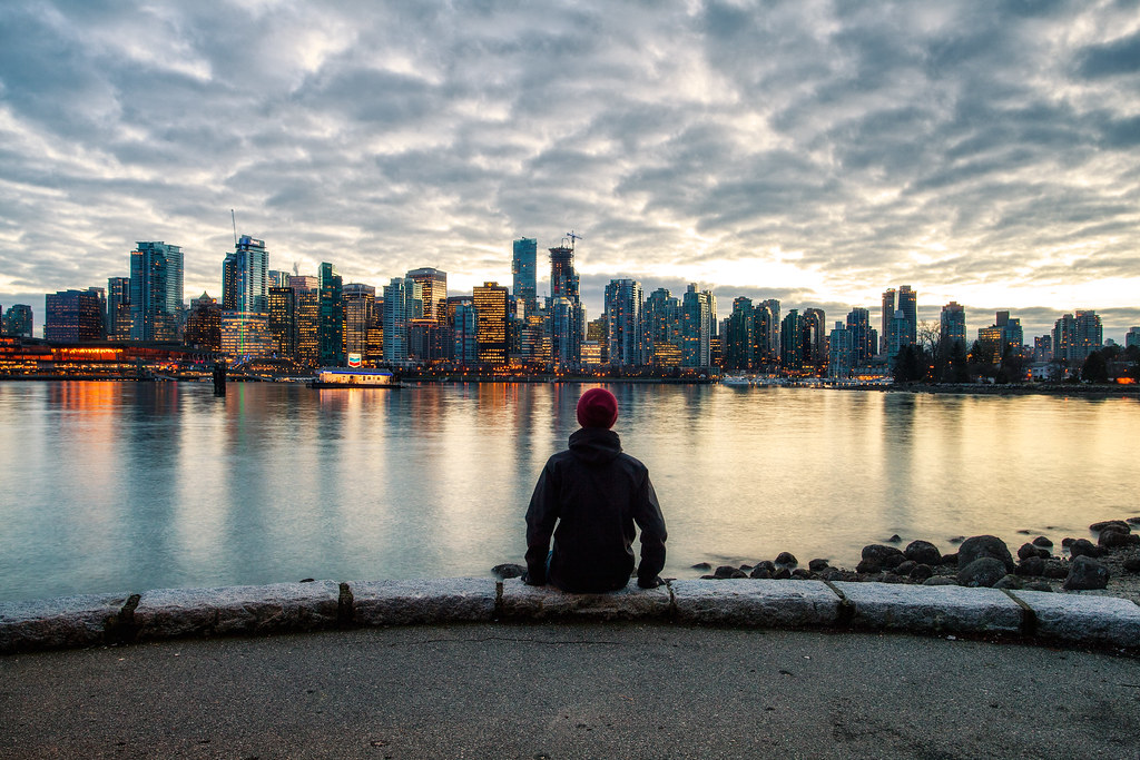 Vancouver Canada Sitting And Watching The Skyline At Sunse Flickr