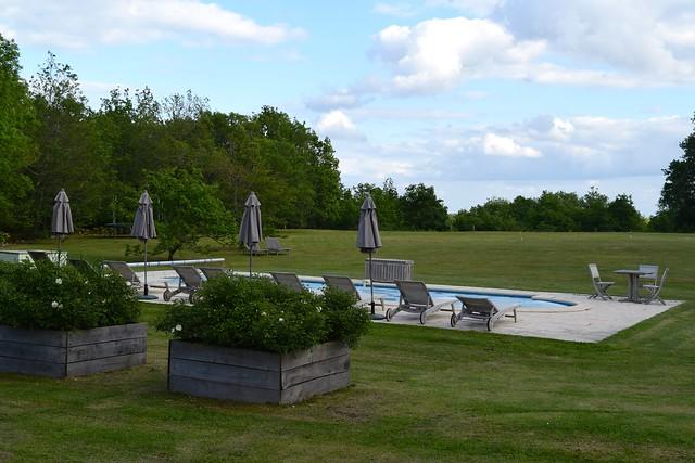 Swimming Pool at Manoir de Malagorse   www.rachelphipps.com @rachelphipps