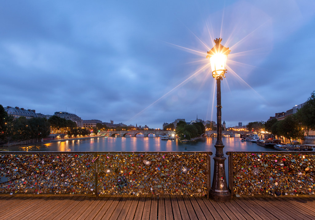 good morning paris pont des arts paris espinozr flickr. Black Bedroom Furniture Sets. Home Design Ideas