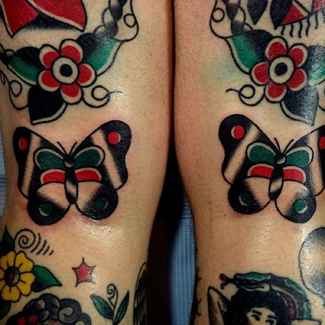 Traditional Butterfly Tattoo Flash: Pictures And Designs