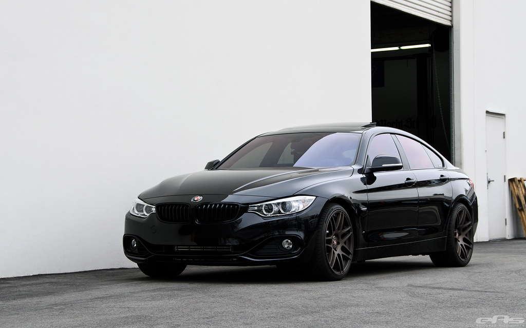 black sapphire bmw f36 435i m performance brake installa. Black Bedroom Furniture Sets. Home Design Ideas