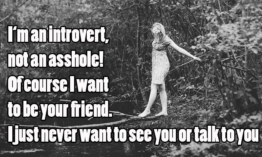 Wie man Freunde introvertiert macht