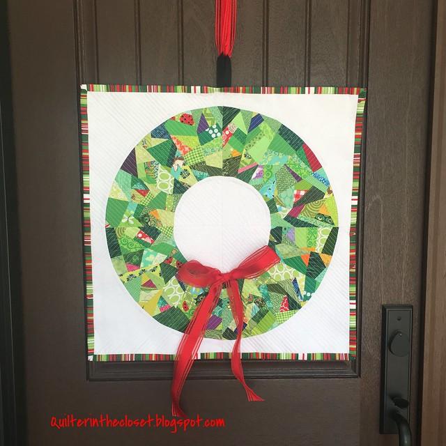 Improv Christmas Wreath quilt