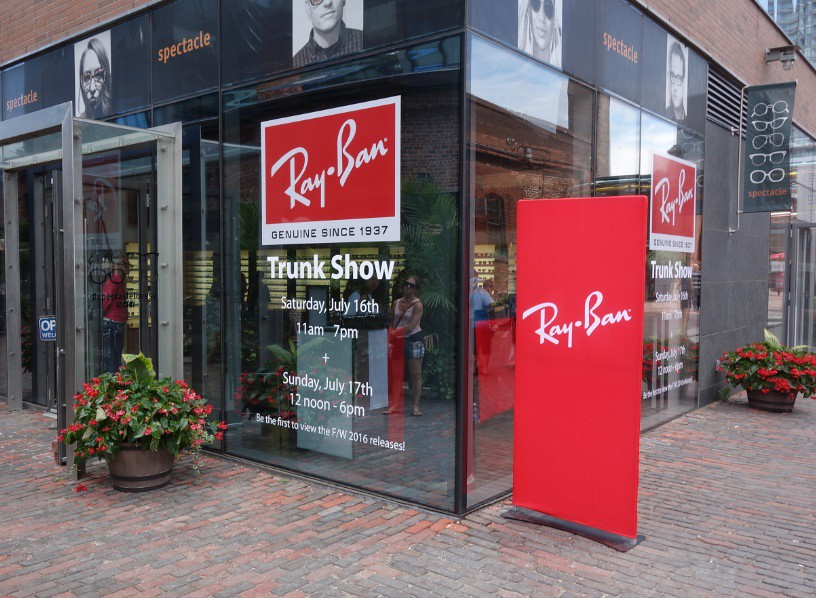 Ray-Ban Trunk Show at the Distillery 16 July 2016