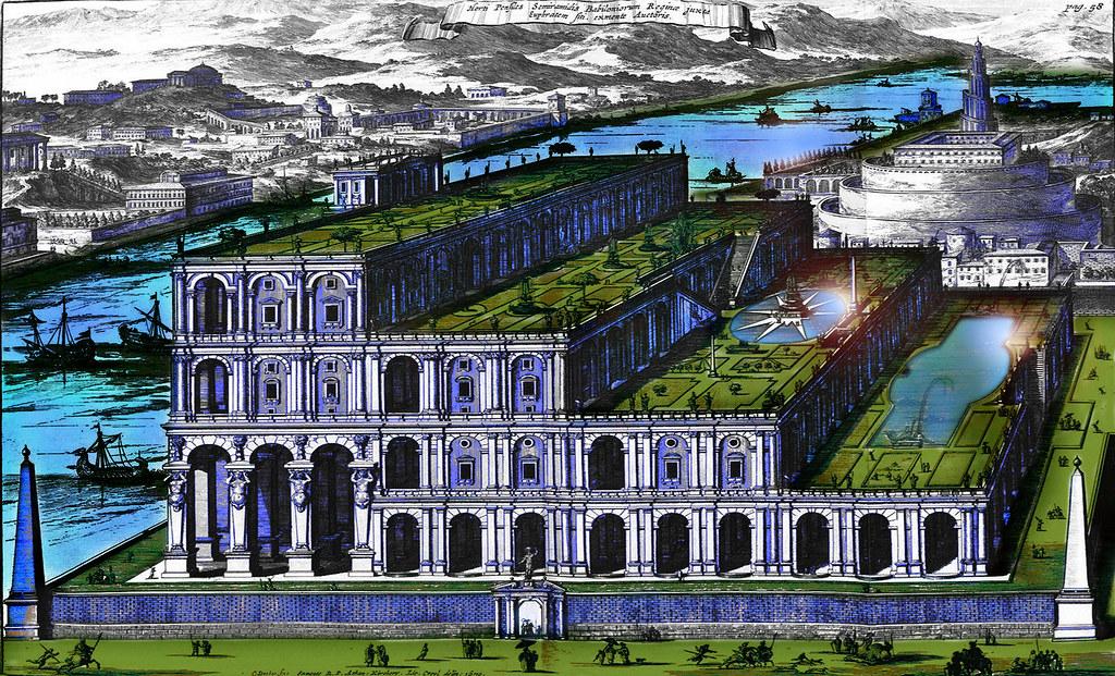 Jardines colgantes de babilonia concepto precursor e for Jardines colgantes de babilonia