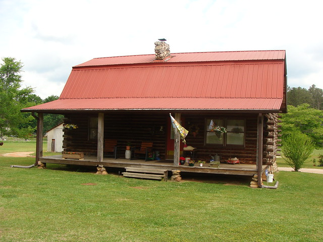 Modern log cabin weaver al flickr photo sharing for Log cabin builders in alabama