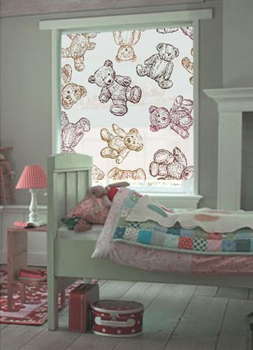 Patr n de osos vintage decoraci n de paredes decoraci n - Estores para habitaciones juveniles ...