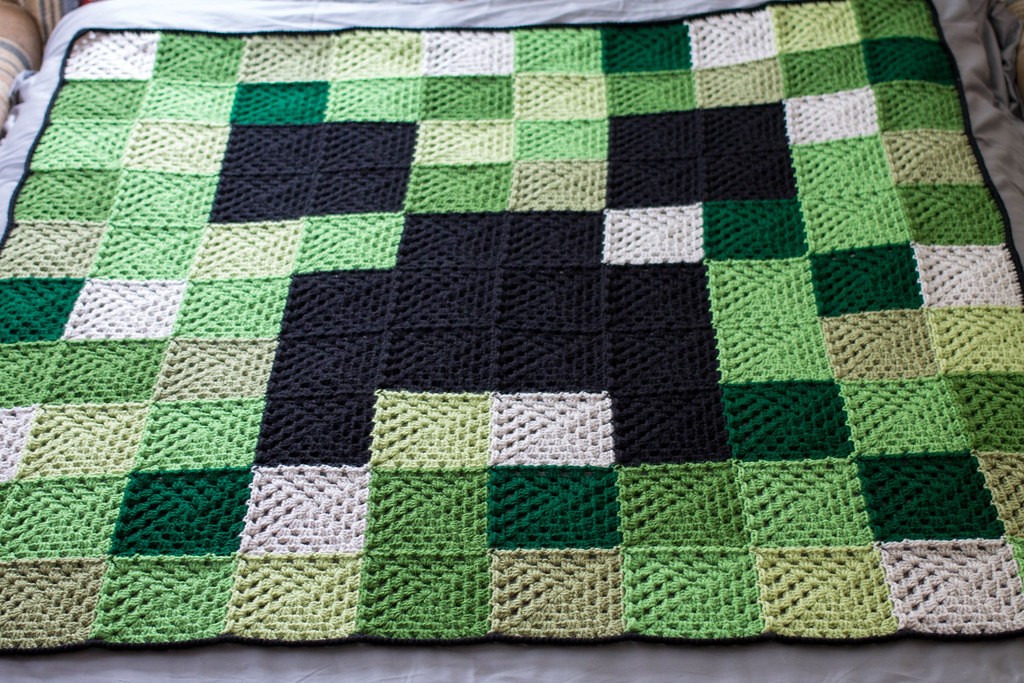 minecraft blanket Kate Flickr