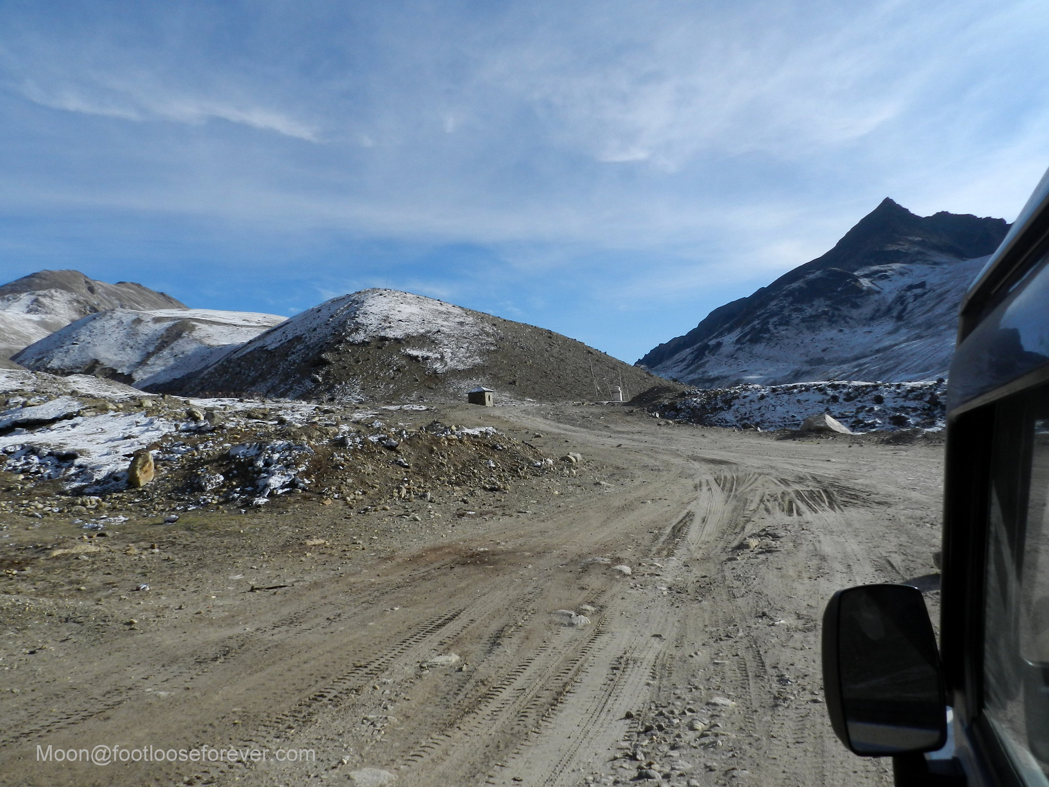 north sikkim, mountain, desert, road