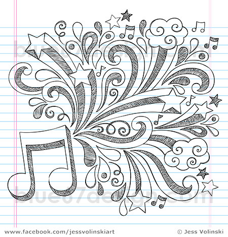 coloring book note 8 music note sketchy back to school doodles vector illustrat