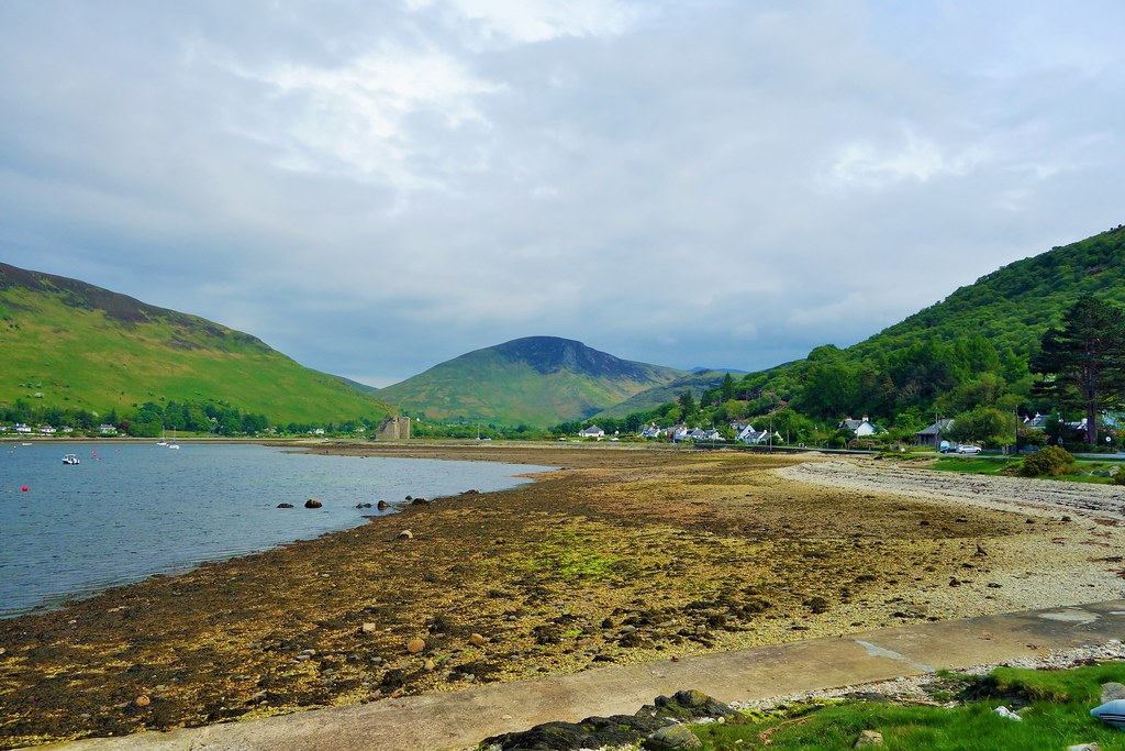 Village of Lochranza and Loch Ranza, Arran, Scotland