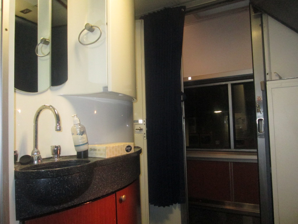 Amtrak Exhibit Train Superliner Bedroom A view from th…