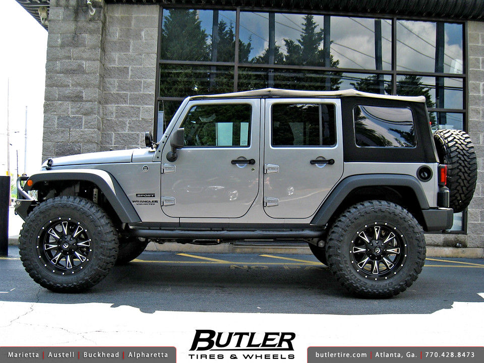 Jeep Wrangler with 20in Fuel Throttle Wheels   Additional ...