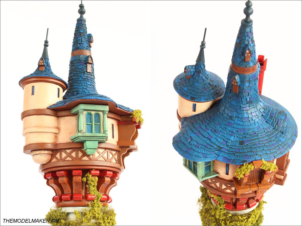 Tangled Rapunzel Tower One Kind Scale Model