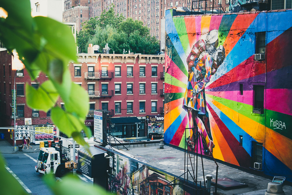 Eduardo Kobra Street Art On The Highline Nyc Seen On Us Ne Flickr