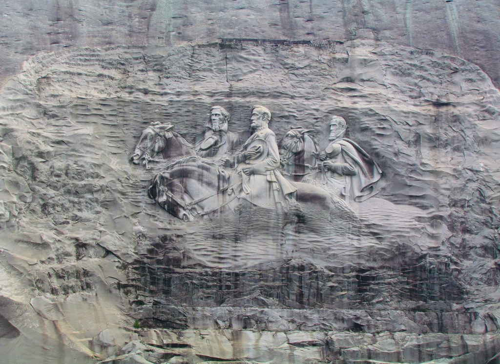 Stone mountain georgia confederate memorial carving o