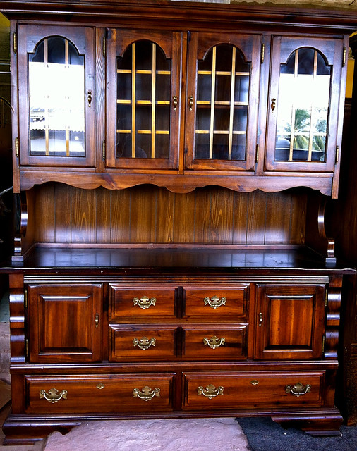 Antique country hutch and cabinet for sale in trinidad