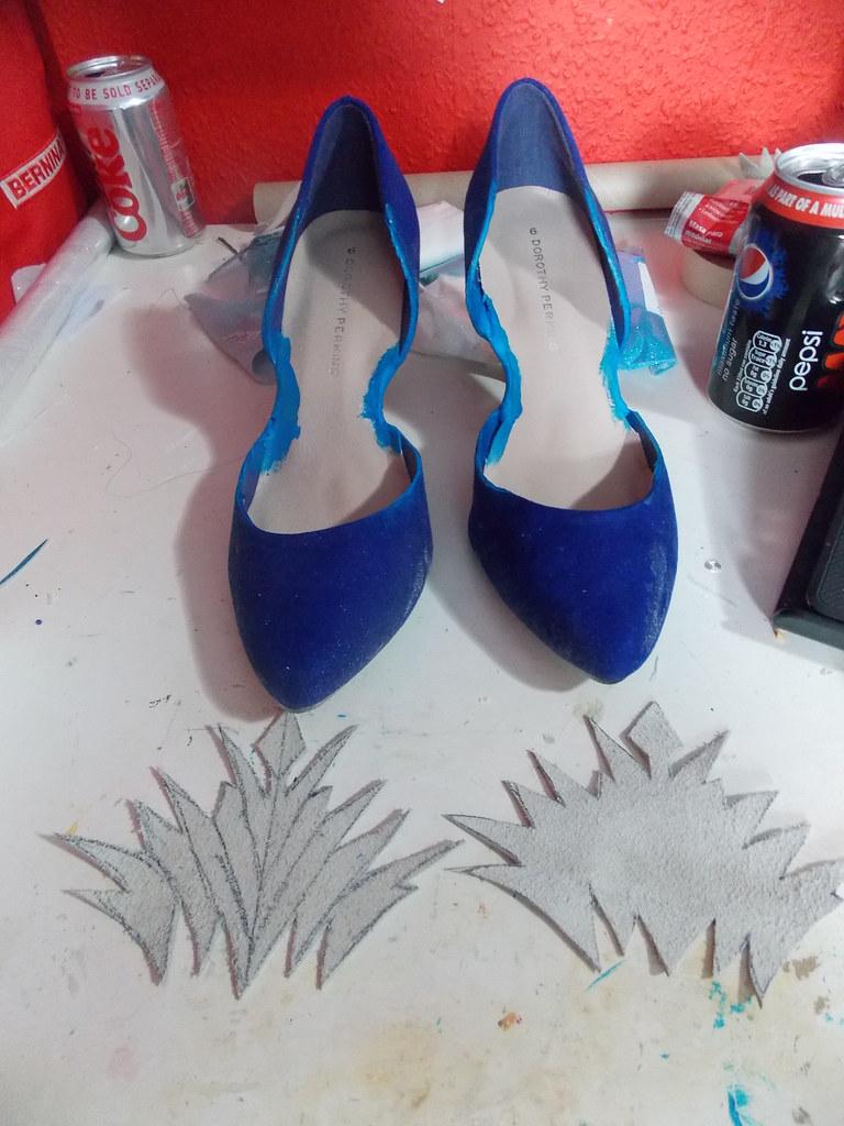 elsa shoes progress start to finish valravn