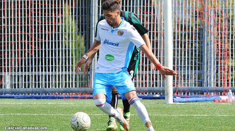 Giacomo Graziano, l'attaccante rossazzurro autore del gol decisivo, alla quarta realizzazione stagionale