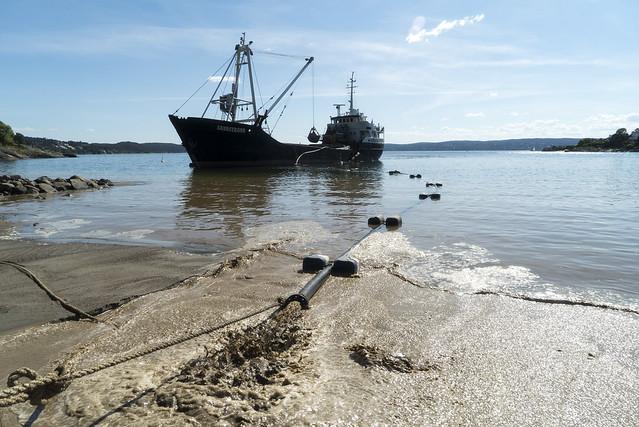 Påfyll av sand på Oslos strender