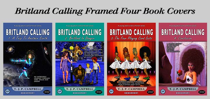 Britland Calling Framed Four Book Covers