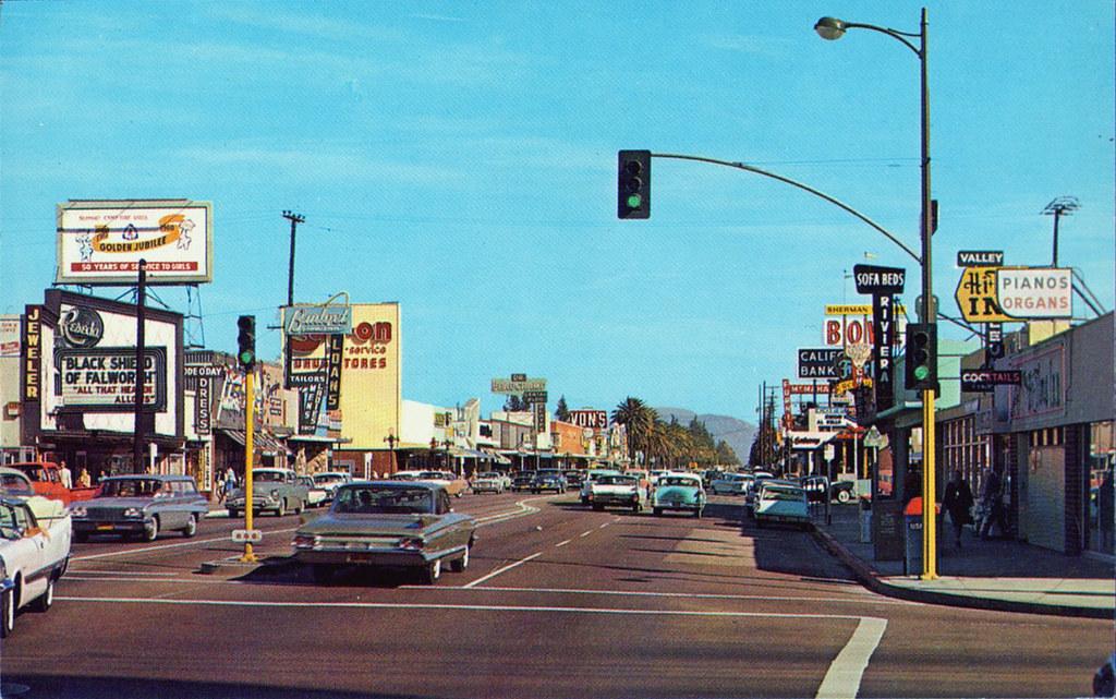 Sherman Way Amp Reseda San Fernando Valley 1960 S Reseda Cal