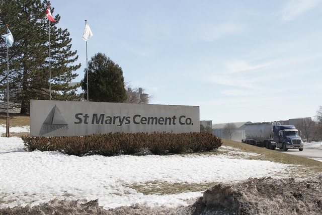 St. Marys Cement Plant produces about 720,000 tonnes of cement each year along iwth 540,000 tonnes of carbon dioxide, something they are working on reducing both through energy efficiency and end of piple solutions that utilize the CO2.