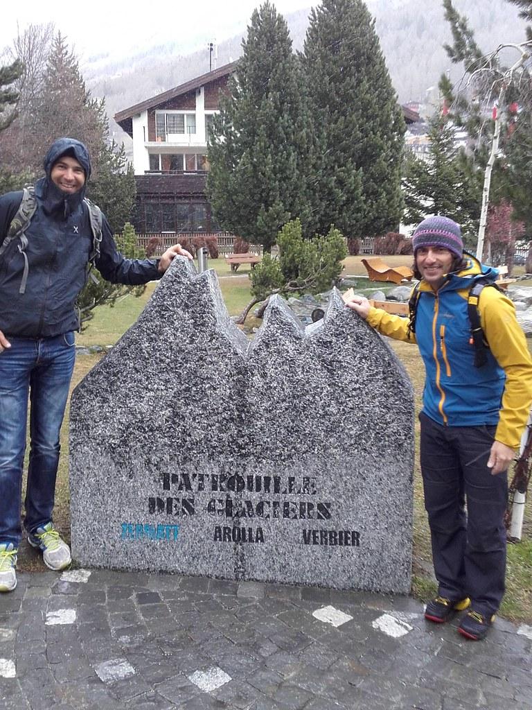 Στον τύμβο «Patrouille des Glaciers» με τον Κώστα που η βοήθεια του ήταν πολύ σημαντική για την ομάδα
