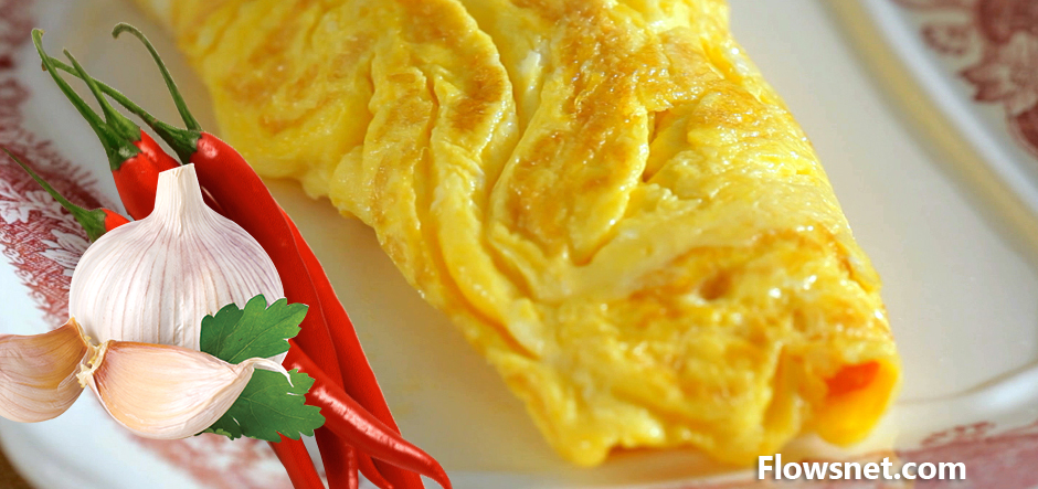 Čili un ķiploka omlete