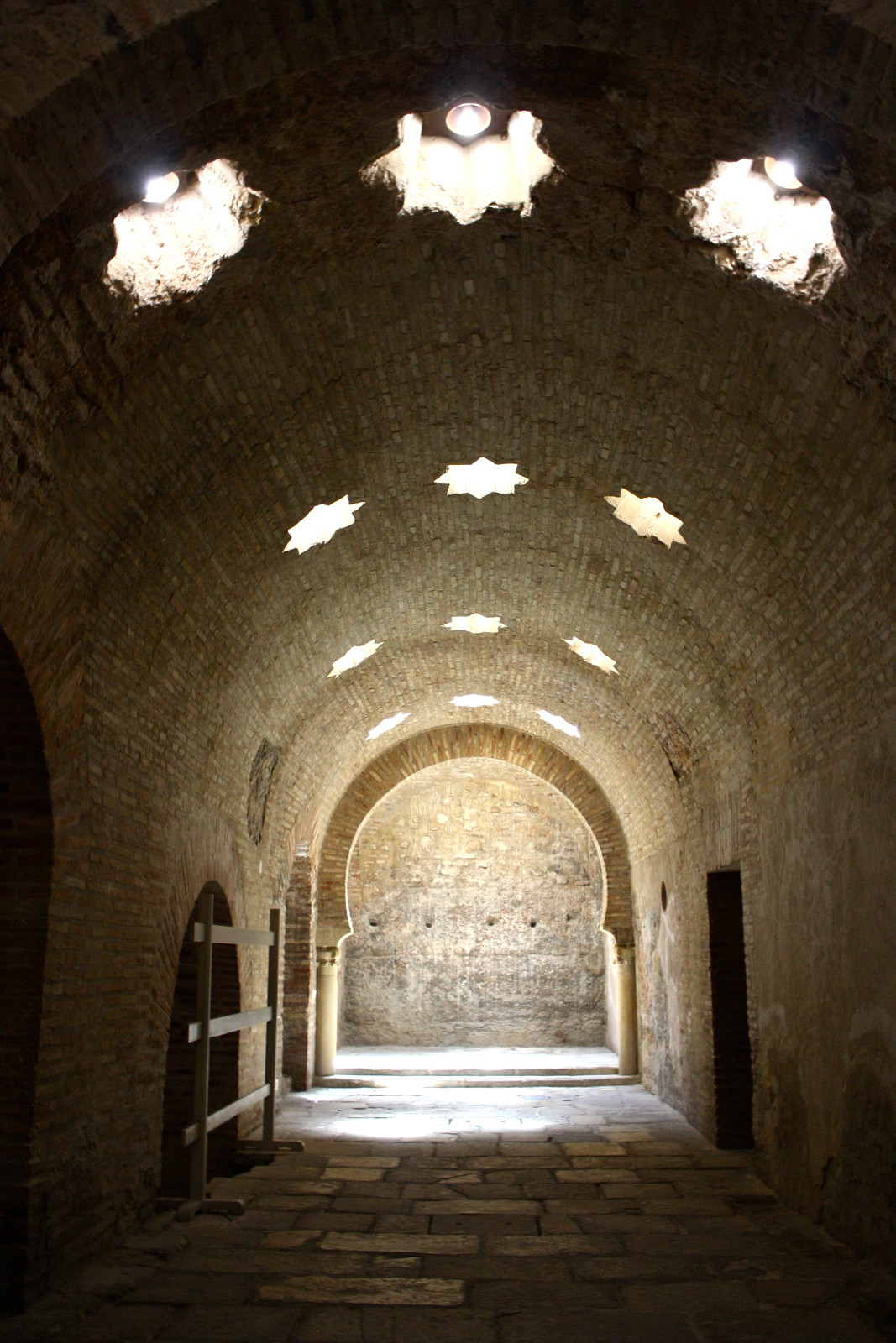 Chamber inside the Arab baths of Jaén, Spain