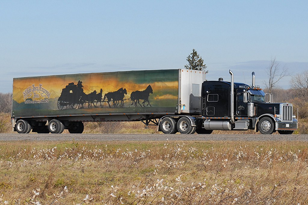 Spread Axle Trailer Weights : Awesome nikki jacq express inc black peterbilt truck and s
