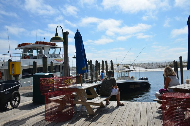 Fishing boats at destin florida pier flickr photo sharing for Destin fishing pier