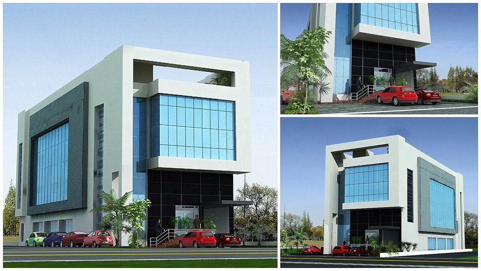 Front Elevation Plaza : D commercial plaza tower front elevation jp cors