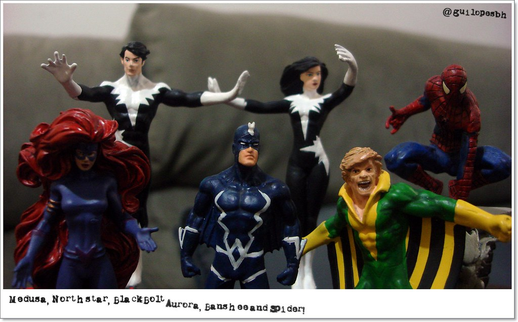 Medusa, Northstar, Black Bolt, Aurora, Banshee and Spider ...