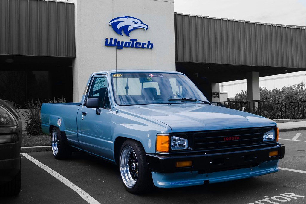 Toyota Minitruck Longbed Stanced Stance Cars Oldsch