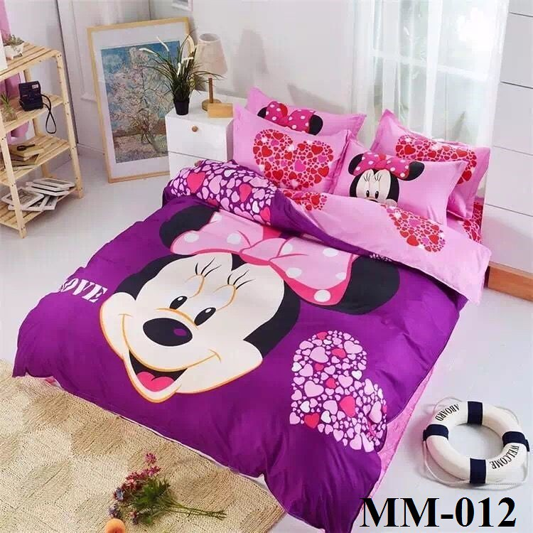 Mickey Amp Minnie 5d 800tc Queen Amp King Size Fitted Bedsheet