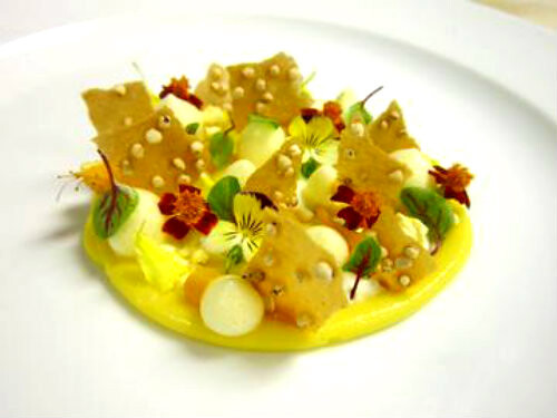 Pineapple Curd, Coconut Mousse, Passion Fruit Espuma, Mango, Quinoa ...