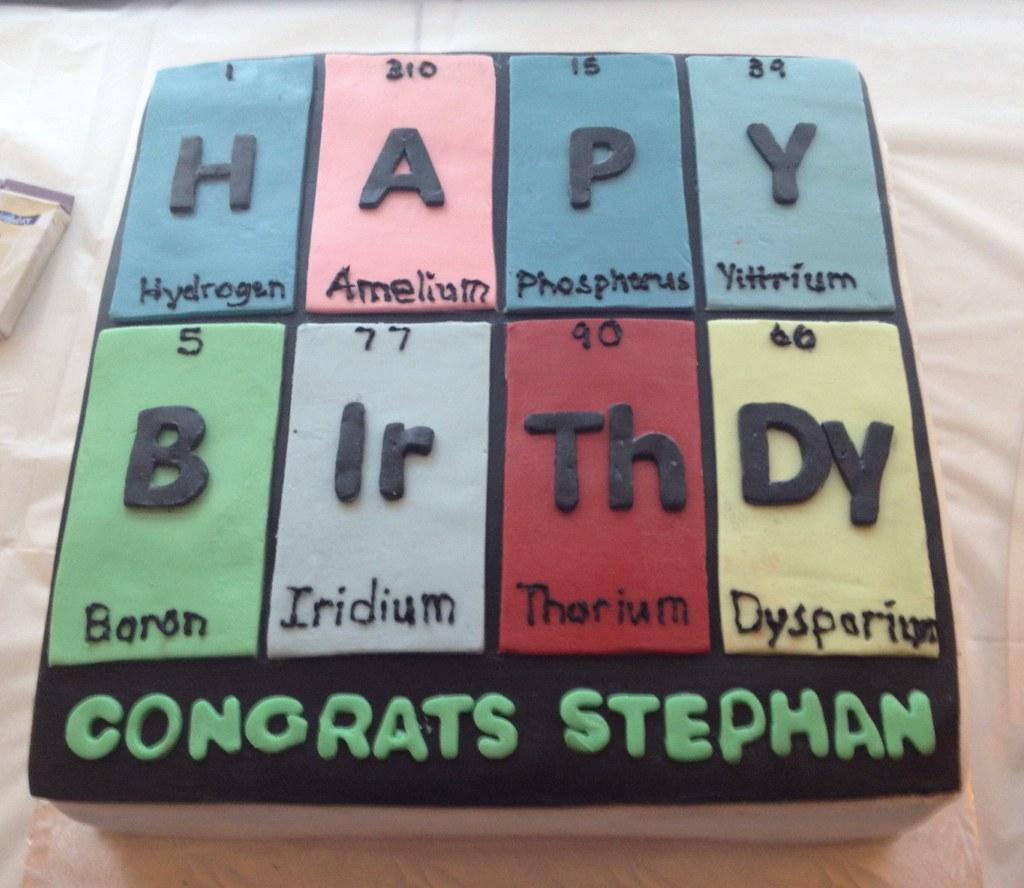 Periodic table birthday cake ngoanathabo hall flickr gamestrikefo Choice Image