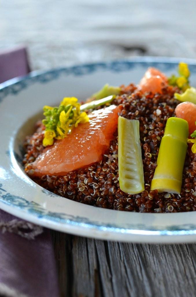 Salade de quinoa aux pousses de bambou fraiches