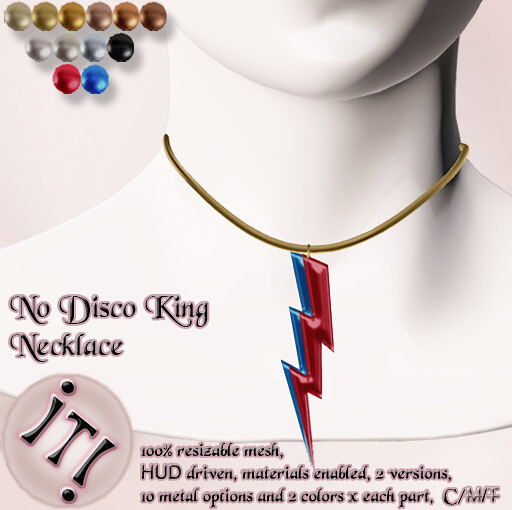 !IT! - No Disco King Necklace Image