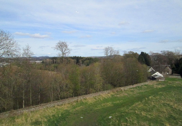 a view from Huntingtower roof in Perth, Scotland