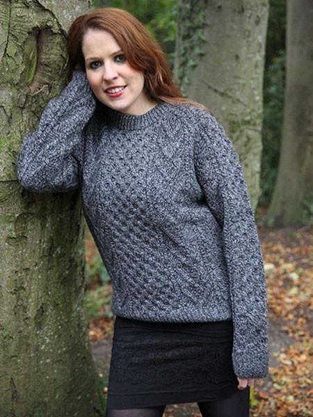 Knitting Jobs Ireland : Classic irish honeycomb wool jumper mytwist flickr