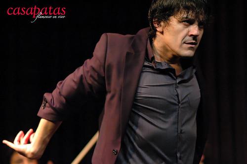 José Barrios en una actuación anterior en el tablao de Casa Patas. Foto: Martín Guerrero